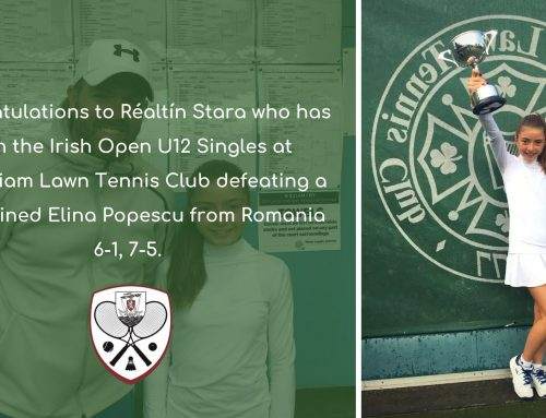 Réaltín Stara Wins Irish Open U12 Singles!