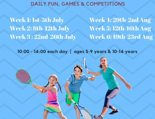 JUNIOR TENNIS SUMMER CAMPS 2019